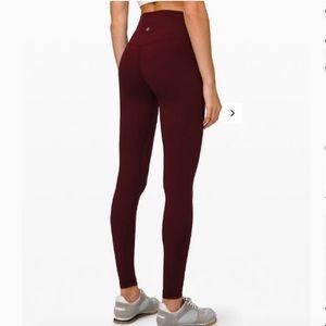 Lululemon Burgundy Maroon Align Pants Leggings